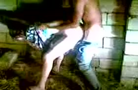 Парни сняли секс с проституткой в подворотне